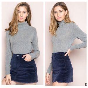 Brandy navy blue skirt